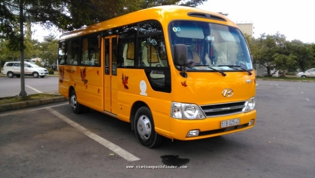 Bus rental Saigon - Phnompenh city/ 1 way/ 1 day